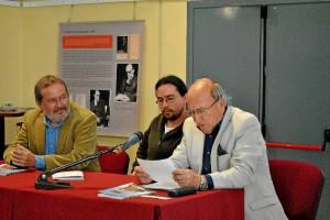 Domingo Gómez en la presentación del libro 'Zalameños'.