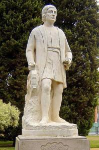 Estatua de Alonso Sánchez en Huelva / FOTO: www.es.wikipedia.org