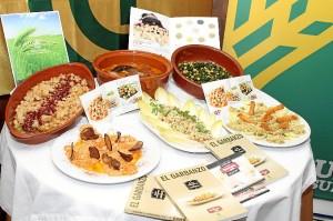 Las recetas elaboradas por Restaurante Terranova con los garbanzos de Escacena. /FOTO: Moisés Núñez.