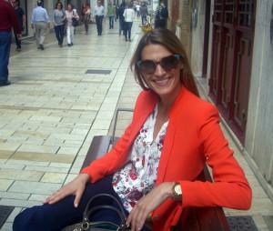 Laura, en la céntrica calle Concepcion.