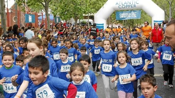 La carrera infantil 'Kilos x kilómetros' se consolida con la participación de más de 1.000 niños