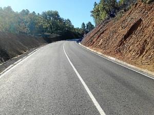 Una de las carreteras que ha sido arreglada.