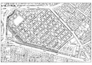 Plano del Barrio Obrero cedido por la arquitecto Natalia Grande.