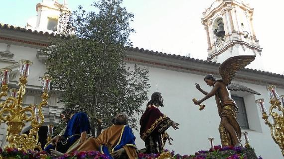 Huelva se hace Jueves Santo con la Oración en el Huerto, Misericordia, Buena Muerte y La Merced