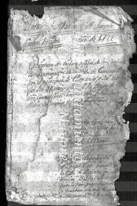 Documentos sobre el capitán del Archivo Municipal de su localidad natal.