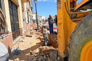Obras en la calle Niña de Palos.