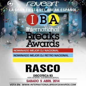 Cartel del certamen, con las dos nominaciones de Rasco.
