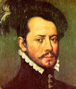 Retrato de Hernán Cortés.