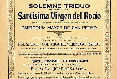 Huelva traslada el Simpecado a San Pedro y se prepara ya para El Rocío 2014