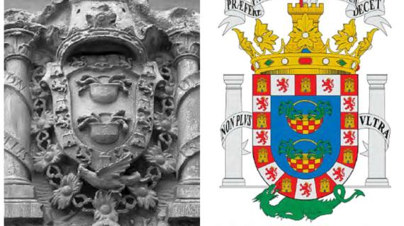 La Casa Medina Sidonia. El Palacio de Huelva y el escudo nobiliario
