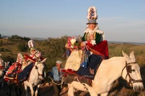 Imagen de una jamuguera, de la romería de El Cerro. / Foto: IAPH.