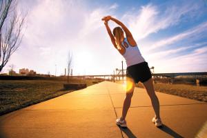 El buen tiempo favorece la práctica de ejercicio.