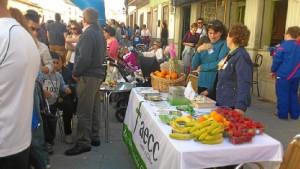 Mesa informativa de estilo de vida saludable en la I Carrera Popular de San Bartolomé de la Torre.