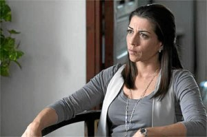 En la serie Crematorio, por la que ha sido premiada por la Unión de Actores.