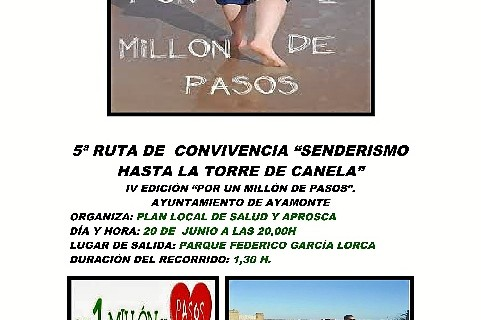 Última ruta de 'Por un millón de pasos' en Ayamonte