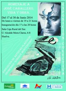 Cartel de la Exposición dedicada a José Caballero.
