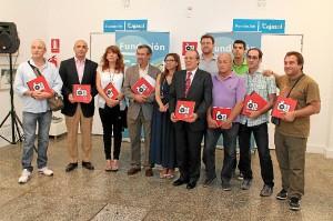 Foto de familia de la presentación del Anuario. / Foto: Moisés Núñez.