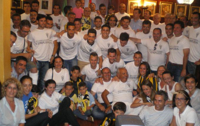 La familia sanroquista fue recibida en el Ayuntamiento de Lepe. / Foto: C. B.