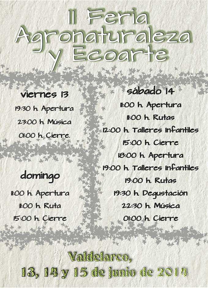 Programa de actividades de la II Feria de Agronaturaleza y Ecoarte.