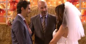 Carmelo Crespo, en la escena de la boda de 'Aida'.