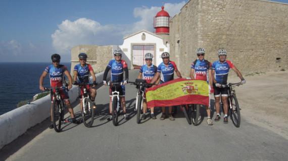 Siete deportistas onubenses completan una ruta BTT de seis días por la Vía Algarviana