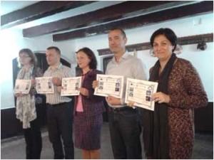 Algunos de los maestros almonteños participantes en el proyecto.