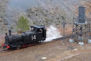 Locomotora 14 del tipo C, construida en 1875.