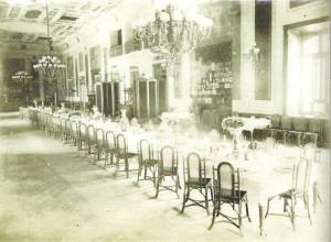 Comedor del Hotel Colón./Foto: www.huelvaenimagenes.wordpress.es