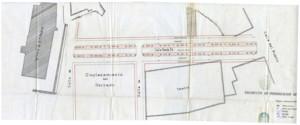 Plano del Proyecto de Urbanización del Paseo Santa Fe,  firmado por Francisco Monis en 1903, AHM Huelva (Leg. 653).