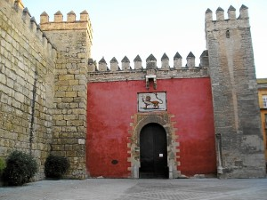 Puerta del León, en el Alcázar de Sevilla.