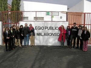 Entre los centros analizados en su tesis se encuentra el Colegio San Walabonso de Niebla.