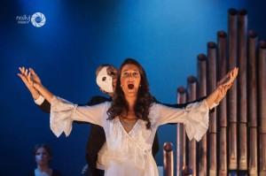 Chritine y el fantasma de la ópera, los protagonistas de la obra.