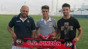 Jairo y Payan, en su presentación como nuevos jugadores leperos.