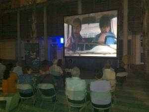 Una proyección de cine de verano en el Festival de Islantilla.