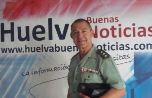 El coronel jefe de la Guardia Civil de Huelva ha visitado la redacción de HBN.