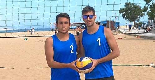 Dos onubenses, en el Campeonato de Andalucía de Voley Playa Open Sub-21