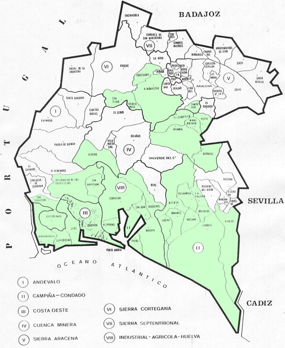 Pueblos De Huelva Mapa.Los Citricos Generan En Huelva Mas De Un Millon De Jornales