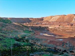 Imagen del paisaje de la Faja Pirítica onubense.