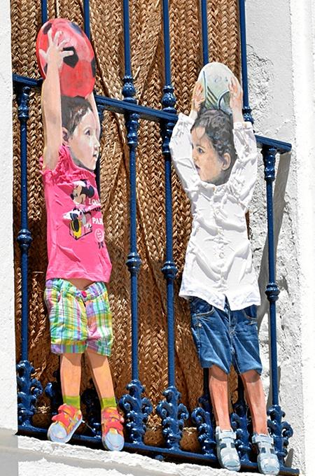 Arte en los balcones de Ayamonte