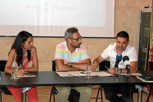 El Alcalde de Ayamonte, el Presidente de la Cámara Municipal de Vila Real de Santo Antonio, y la Vicepresidenta de la Cámara Municipal de Castro Marim.