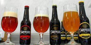 Los tres tipos de Cerveza Tartessos.