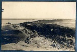 La Punta del Sebo, antes de la instalación del monumento. / Foto: Archivo Histórico Provincial de Huelva.