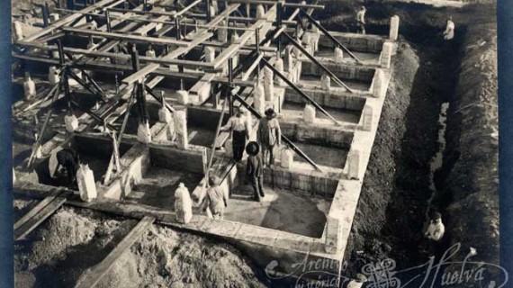 La construcción del Monumento a la Fe Descubridora, un emblema de Huelva