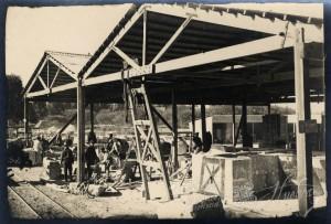 La piedra utilizada se trajo de una cantera de Niebla. / Foto: Archivo Histórico.