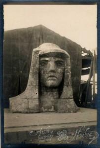 El monumento se inauguró en 1929. / Foto: Archivo Histórico Provincial de Huelva.