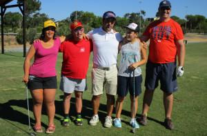El golf, otra de las pruebas que contó con deportistas del Coda.
