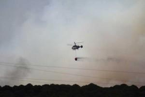 Helicóptero del dispositivo. / Foto: Juan Trigo.