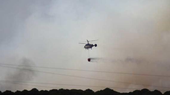 Extinguido el incendio forestal de Cartaya