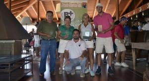 Los ganadores de la prueba del Circuito Atlántico de Golf jugada en La Monacilla.