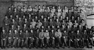 Componentes de La Nueve fotografiados en Pocklington (Inglaterra), en el verano de 1944, antes de partir hacia Francia.